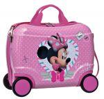 Porovnat ceny JOUMMABAGS detský kufrík na kolieskach Minnie srdce 46x30x21 cm