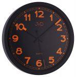 Porovnání ceny Černo / oranžové luxusní moderní hodiny JVD quartz HA12.3