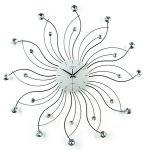 Porovnání ceny Paprskovité luxusní skleněné kovové nástěnné designové hodiny JVD HJ27