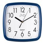 Porovnání ceny Modré hranaté nástěnné netikající hodiny JVD sweep HP615.12