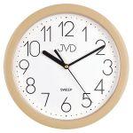Porovnání ceny Béžové plastové nástěnné netikající tiché hodiny JVD sweep HP612.15