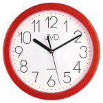 Porovnání ceny Červené plastové nástěnné netikající hodiny JVD sweep HP612. 2