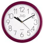 Porovnání ceny Fialové moderní netikajcíí hodiny JVD sweep HP612.10