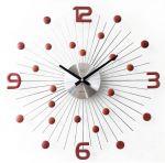 Porovnání ceny Luxusní moderní kovové hodiny JVD HT074.3 s červenými prvky - POŠTOVNÉ ZDARMA