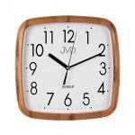 Porovnání ceny Hranaté nástěnné netikající hodiny JVD quartz H615.4 imitace dřeva