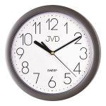 Porovnání ceny Šedé plastové nástěnné netikající tiché hodiny JVD sweep HP612.25