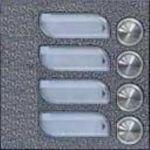 Porovnat ceny Tesla Stropkov 4FN23084.2/F Tesla - KARAT Modul zvonkové tablo s 4 tlačítky stříbrný 4+n v jedné řadě