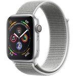 Porovnání ceny Apple Watch Series 4 44mm stříbrný hliník s bílým provlékacím sportovním řemínkem - MU6C2HC/A