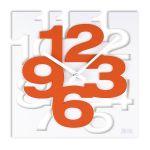 Porovnání ceny Luxusní designové oranžovo-bílé nástěnné hodiny JVD TIME H106.1