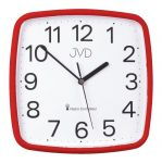 Porovnání ceny Červené hranaté rádiem řízené levné hodiny JVD RH616.4