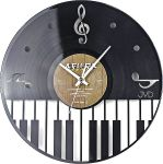 Porovnání ceny Designové hudební hodiny design JVD HJ47 - vyrobeno z gramodesky pro hudebníky