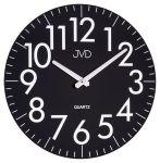 Porovnání ceny Černé skleněné designové hodiny JVD quartz HA13.1