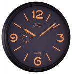 Porovnání ceny Černé / oranžové luxusní moderní hodiny JVD quartz HA11.2