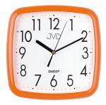 Porovnání ceny Oranžové hranaté barevné nástěnné tiché netikající hodiny JVD sweep HP615.7
