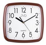 Porovnání ceny Hnědé dětské hranaté čitelné nástěnné netikající tiché hodiny JVD HP615.9
