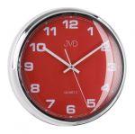 Porovnání ceny Luxusní červené nástěnné hodiny JVD sweep HA4.3 (kovový vzhled)