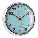 Porovnání ceny Luxusní modré nástěnné hodiny JVD sweep HA4.1 (kovový vzhled)