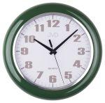 Porovnání ceny Moderní čitelné zelené netikající tiché nástěnné hodiny JVD sweep HA5.3