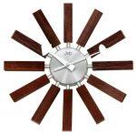 Porovnání ceny Paprskovité designové hodiny hodiny JVD quartz HT103.2 v kombinaci dřevo x kov