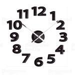 Porovnání ceny Luxusní designové černé nalepovací hodiny 22822 Balvi 60cm POŠTOVNÉ ZDARMA!!
