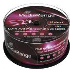 Porovnat ceny MEDIARANGE CD-R 700MB 52x Inkjet Fullsurface-Printable spindl 50pck/bal