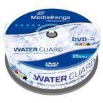 Porovnat ceny MEDIARANGE DVD-R 4,7 GB 16x WaterGuard Photo Inkjet Fullprintable spindl 25pck/bal