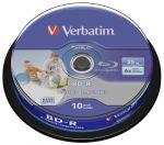 Porovnat ceny 1x10 Verbatim BD-R Blu-Ray 25GB 6x Speed DL Wide Printable CB