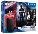 Porovnání ceny SONY PlayStation 4 černý 1TB (D Chasiss, slim) + 3 hry - hráčské balení