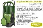 Porovnání ceny EXTOL CRAFT Čerpadlo elektrické kalové 400 W 8000 l / hod Extol 414121